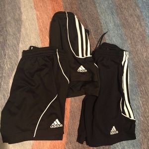 Adidas shorts- 3 pack bundle of youth Small